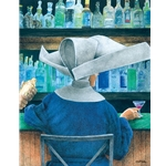 bar none....(Flying Nun) by fantasy humor artist Will Bullas