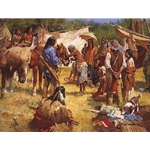 The Horse Doctor and His Medicine Bag at Rendezvous by western artist Howard Terpning