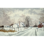 First Snow - Amish Farm by rural artist Florian Lawton