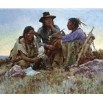 Found On the Field of Battle by western artist Howard Terpning