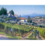 The Harvest - Chianti region of Italy by wine country artist June Carey