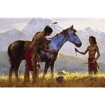 Horse of a Different Color - war paint by western artist Howard Terpning