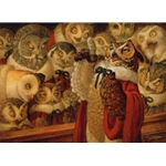 A Parliament of Owls by fantasy artist Scott Gustafson