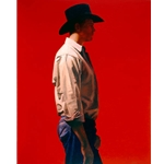 Man in Red - American farmer by artist Gary Ernest Smith