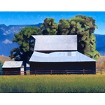 Barn at Cove Oregon by rural artist Gary Ernest Smith