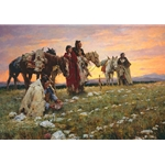 Journey to the Medicine Wheel by western artist Howard Terpning