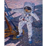 A Giant Leap - Neil Armstrong July 20, 1969 by astronaut artist Alan Bean