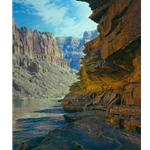 Ledges of the Tapeats - river view of Grand Canyon by landscape artist Curt Walters