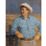 Ronald Reagan Portrait by Presidential artist Andy Thomas