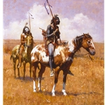 Coup Sticks and War Paint by Howard Terpning