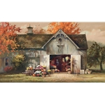 Autumn Barn - New England in the fall by artist Paul Landry
