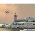 Afternoon Departure - Stoney Point Light - Grumman Goose by nostalgia artist William Bill Phillips