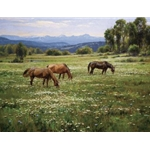 Amid Summer Blooms by western artist Robert Peters