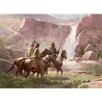 Red Rock Crossing, Northwest Montana, 1850 by western artist Z. S. Liang