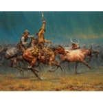 The Wild Ones - roundup in downpour by Andy Thomas