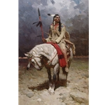 Pride of the Piegan - warrior of the Blackfeet tribe of Montana by artist Z. S. Liang
