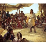 Paper That Talks Two Ways, Treaty Signing by western artist Howard Terpning