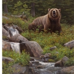 Huckleberry Heaven - grizzly bear by wildlife artist Kyle Sims