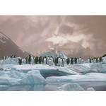 The Emperors' Ball - penguins on the edge by Rod Frederick