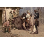 Painted Robe for Powder and Ball - trading at Musselshell Valley by Z.S. Liang