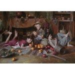 Apples and Oranges - children playing by artist Morgan Weistling