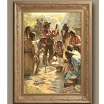Tribute to the Plains People + giclee canvas by western artist Howard Terpning