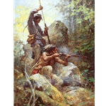 White Man Fire Sticks - musketry on the Swan River by artist Howard Terpning