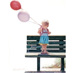 Blowin' in the Wind - little girl with balloons by Steve Hanks