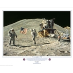Ceremony on the Plain at Hadley by astronaut artist Alan Bean