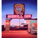 Merill Inn - motel on Route 66 by realist artist Ben Steele