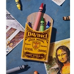 Dedicated to da Vinci - crayon art from the Master by artist Ben Steele