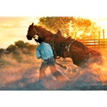 When Horse Whispering Gets Loud by cowboy artist Tim Cox