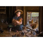 Olivia's Coop - chickens by childhood artist Morgan Weistling