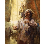 ~ Calling the Buffalo - Blackfoot medicine man by Howard Terpning