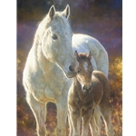 ~ Morning Magic - mare & colt by equine artst Bonnie Marris
