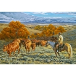 ~ Where Change Comes Slowly - cattle drive by Tim Cox