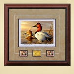 2014 2015 Federal Duck Print MEDALLION EDITION REGULAR - Canvasback Pair by Adam Grimm