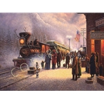 When the Denver Rode the Rails (old Aspen) by western artist Jack Terry