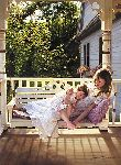 Something to Treasure - Mother and child on Porch Swing by Jean Monti