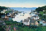 View of New Harbor by Sally Caldwell Fisher