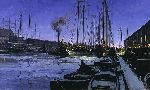 Winter Dawn at Boston Tea Wharf by Christopher Blossom