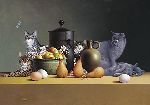 Still Life With Three Eggs and Four Pairs by Braldt Bralds