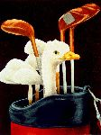 Sand Trap Pro - Duck in Golf bag by Will Bullas