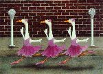 Ballet Parking - dancing ducks by Will Bullas