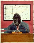 Monkey Business - Gorilla as CEO by humor artist Will Bullas