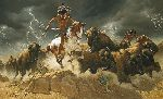 Flashes of Lightning Thunder of Hooves by Frank McCarthy