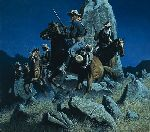 Ambush at the Ancient Rocks by Frank McCarthy