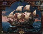The Voyage of the Fianna - Sailing Ship by fantasy artist Dean Morrissey