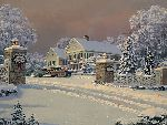 Winter Visitors at Kringle Hill Inn by William Phillips