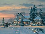 Christmas Eve at the Winchester Inn by William Phillips